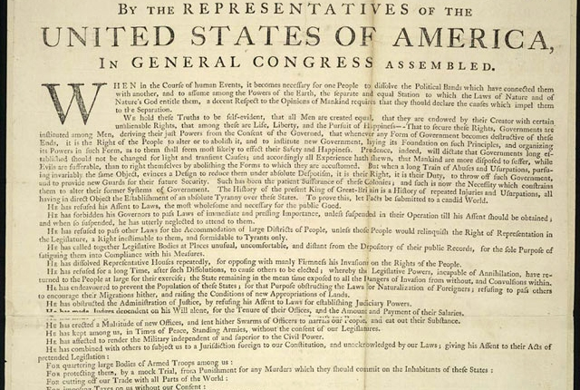 The Birth of a Nation – July 4,1776