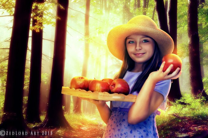 THE GIRL WITH THE APPLES