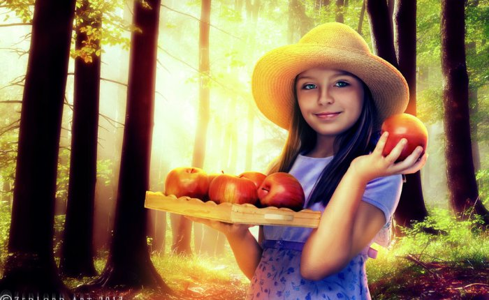 THE GIRL WITH THEAPPLES