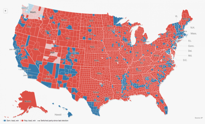 THE ELECTORAL MAP –2016